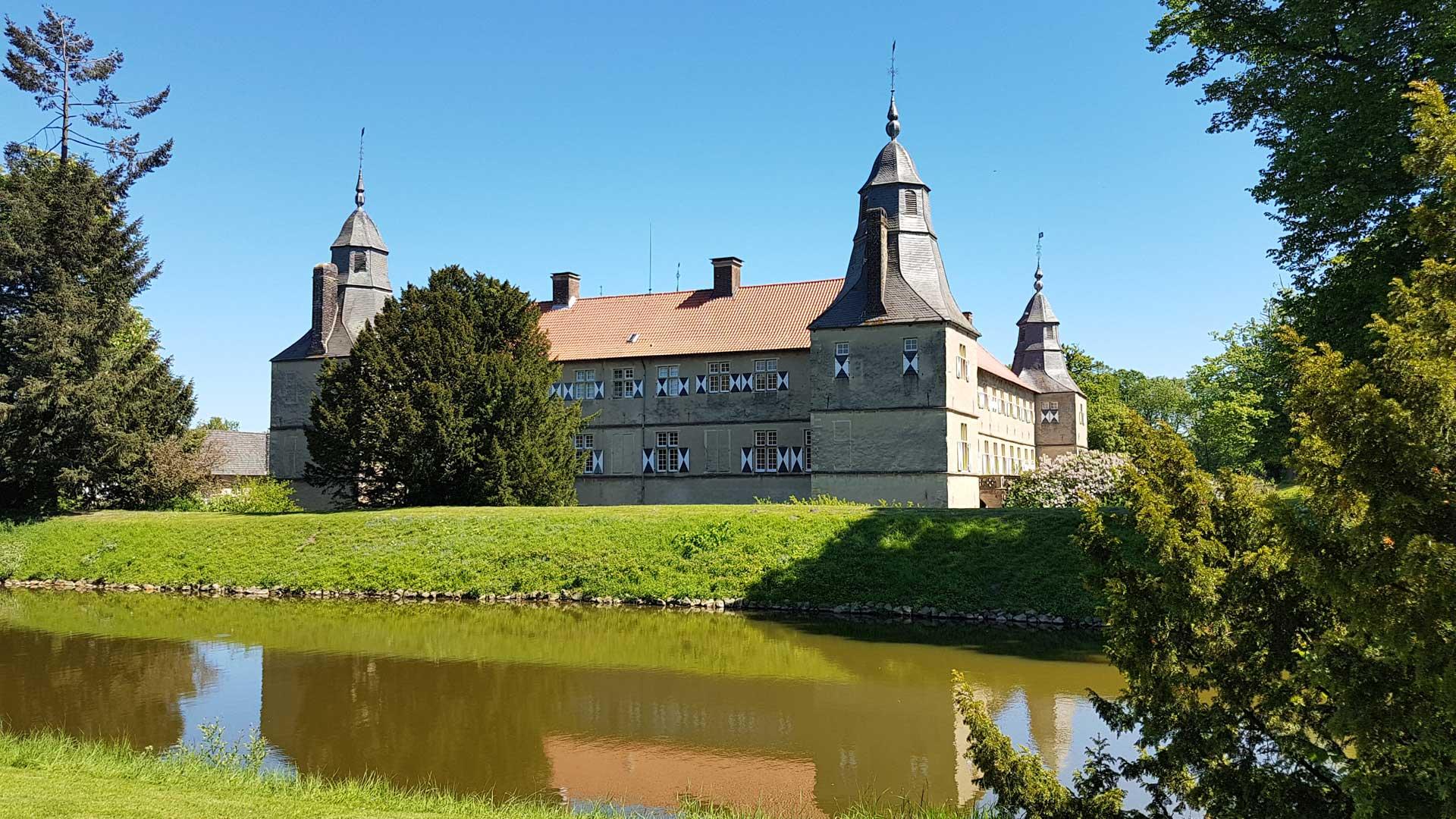 Schloss Westerwinkel in Ascheberg is een van de oude barokke kastelen van het Münsterland.