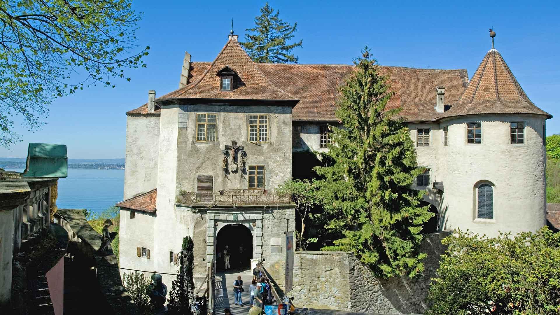 Het kasteel in Meersburg aan de Bodensee.