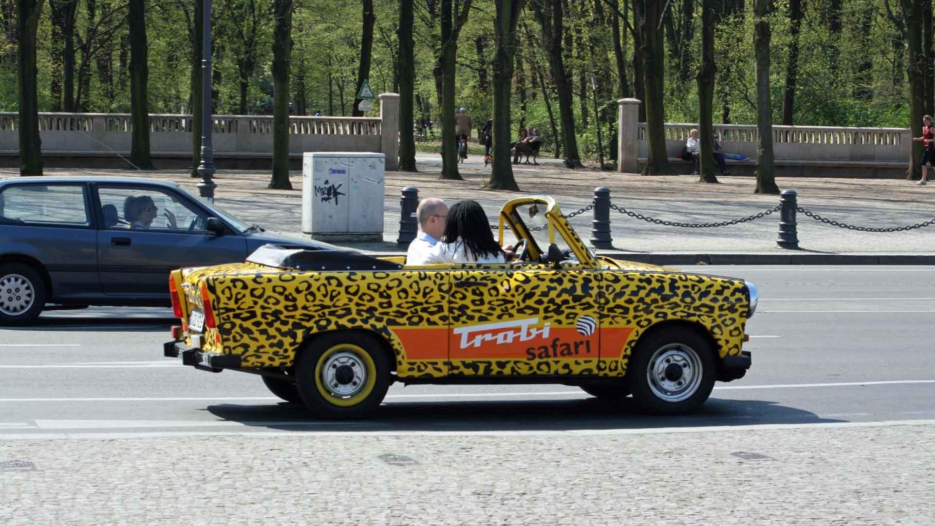 Fietsen in Berlijn en ter afwisseling een trabi safari