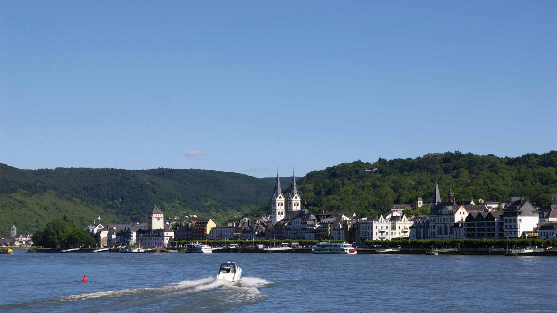 Boppard is prachtig gelegen aan de Rijn.