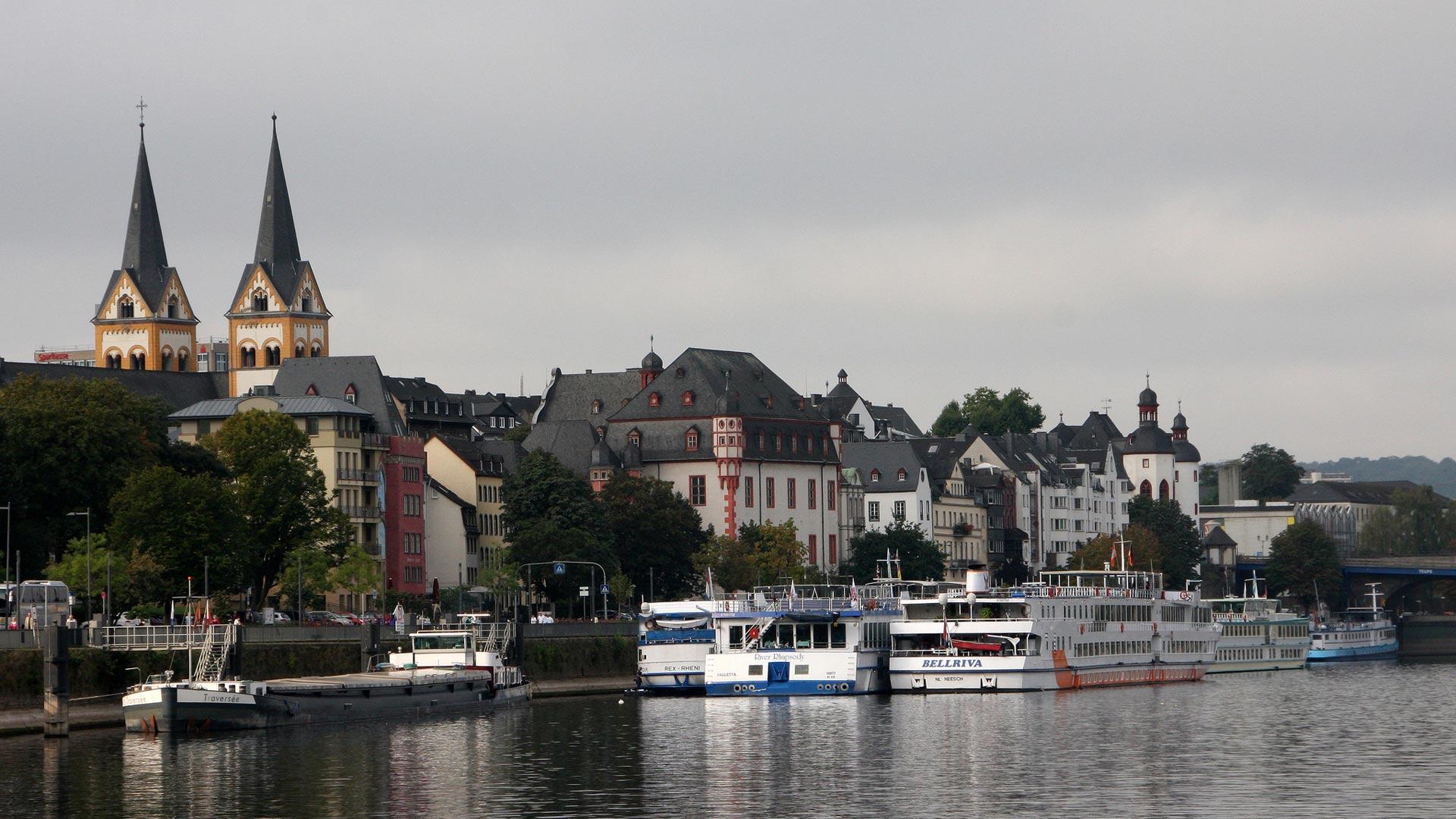 In Koblenz mondt de Moezel in de Rijn. © SE-Tours