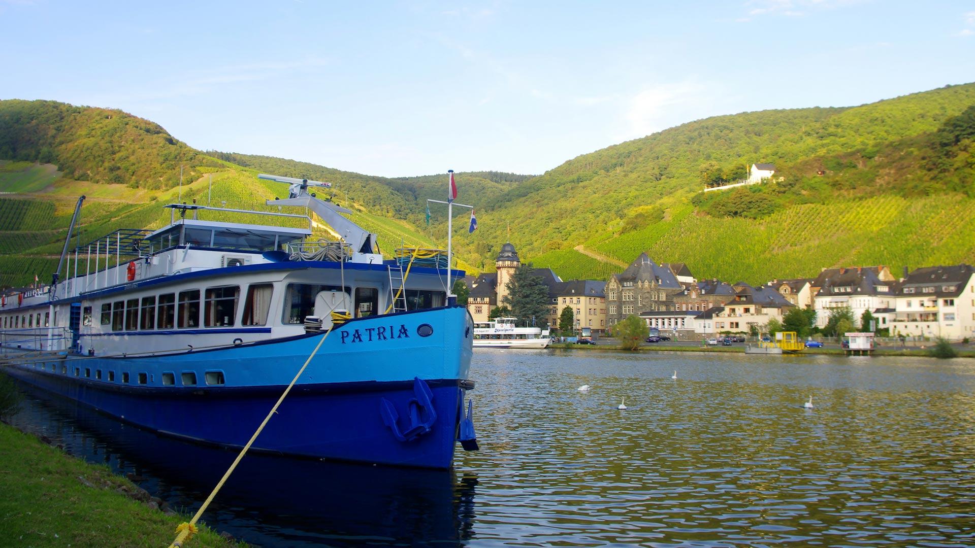 Hotelschip MS Patria in Mehringen aan de Moezel. © SE-Tours