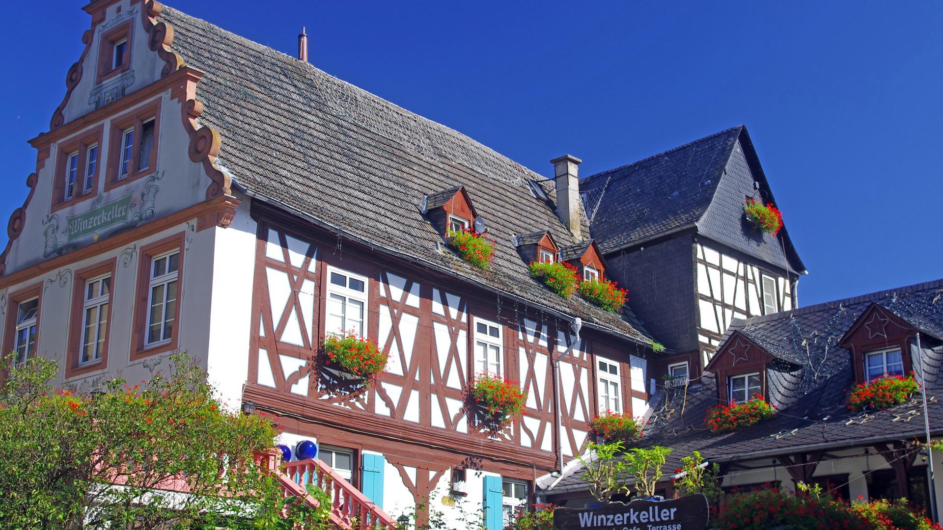 Rüdesheim aan de Rijn is een prachtig vakwerkstadje. © SE-Tours