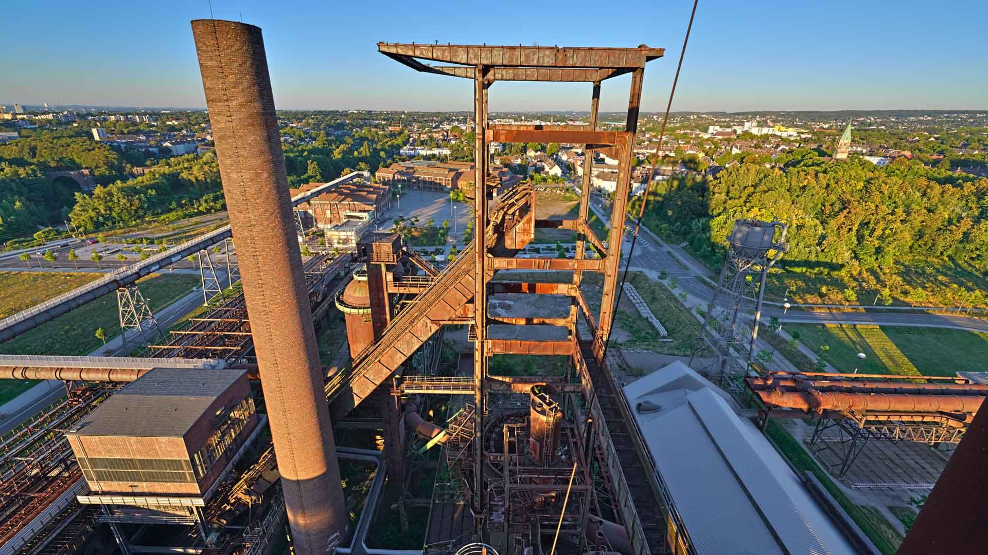 Geweldig uitzicht vanaf de Skywalk in Dortmund