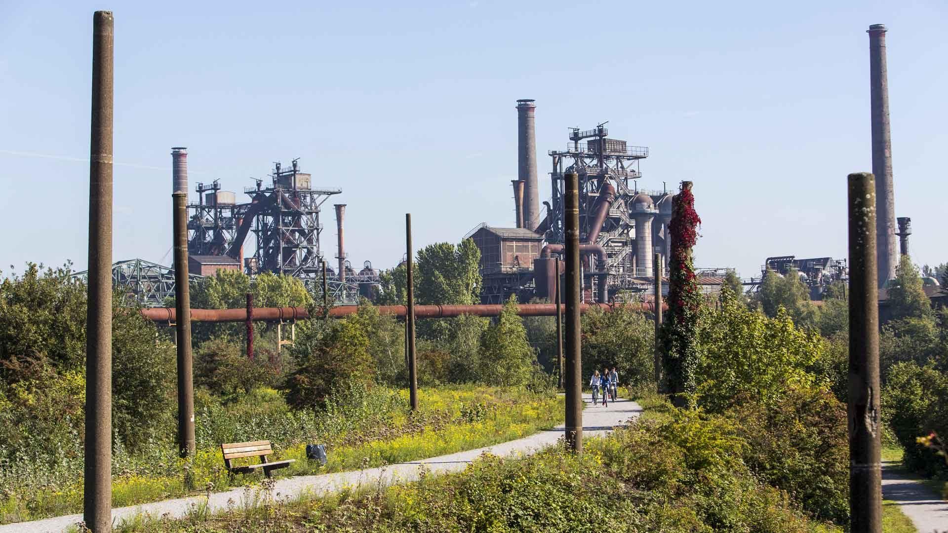 Veel industrieel erfgoed in het Ruhrgebied: zoals Landschaftpark Nord in Duisburg.