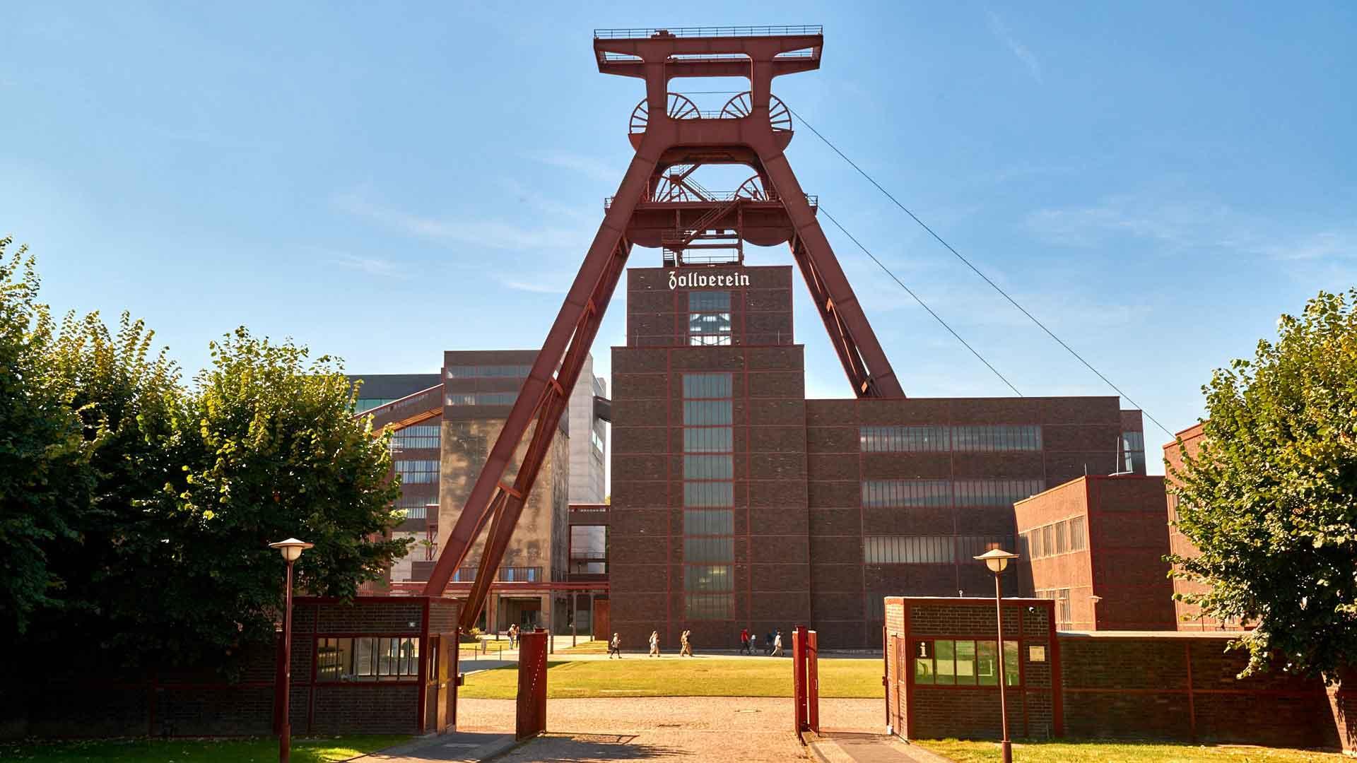 De Zeche Zollverein in Essen is het symbool voor het Ruhrgebied.