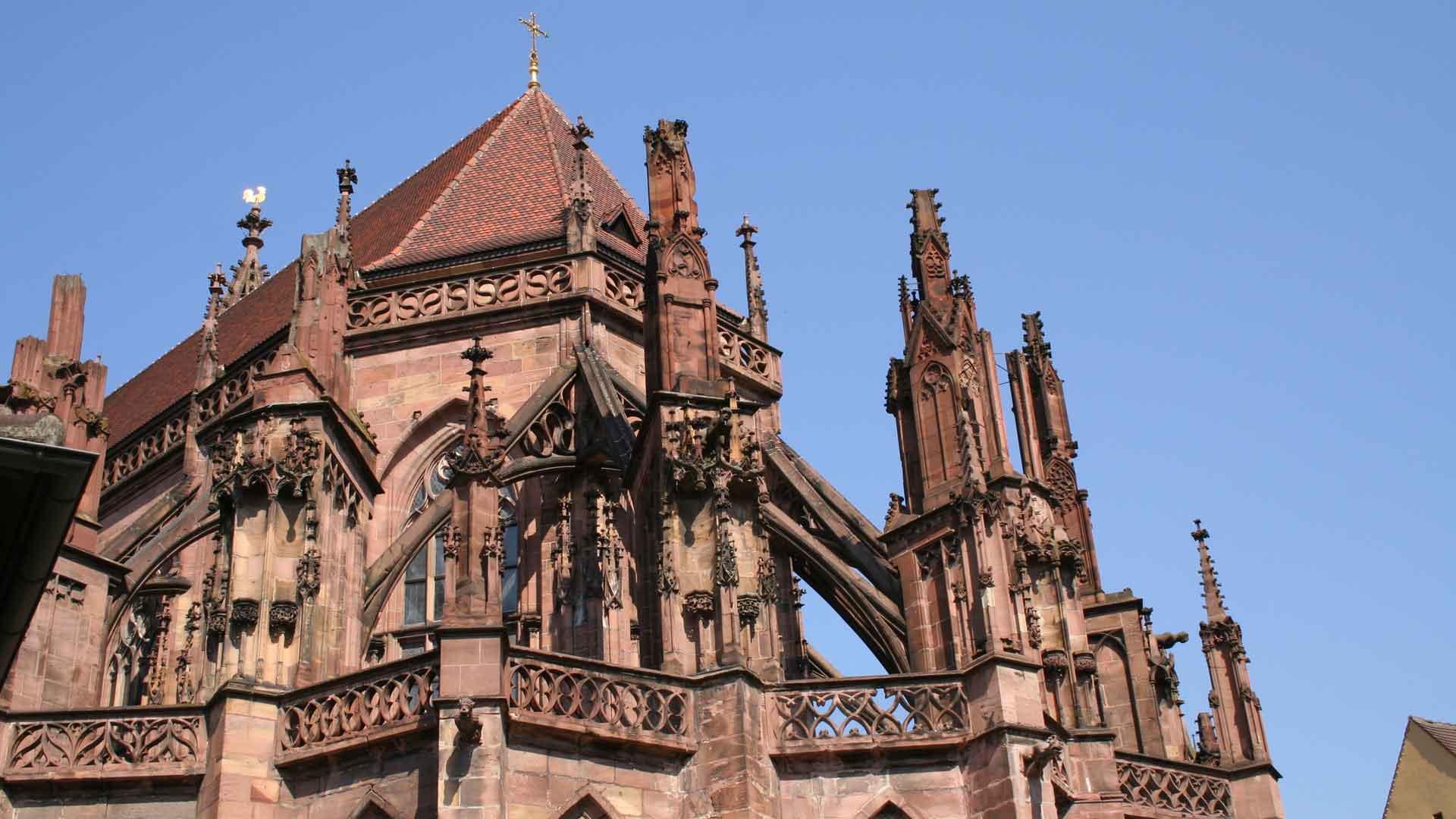 De prachtige gotische dom van Freiburg.