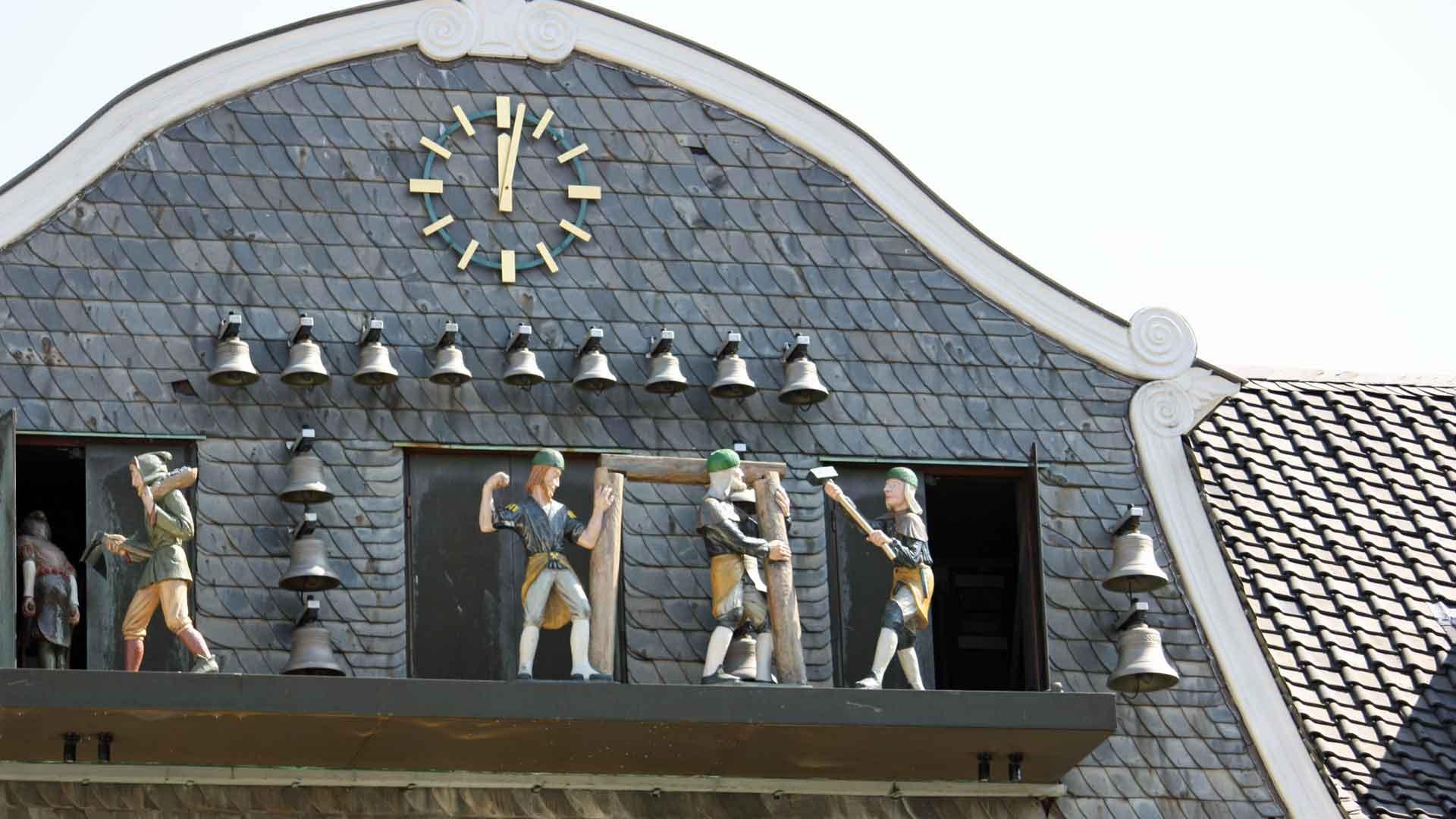 Het klokkenspel van Goslar gaat over de geschiedenis van de mijnbouw.