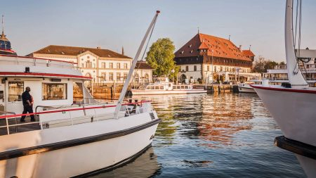De haven van Konstanz.