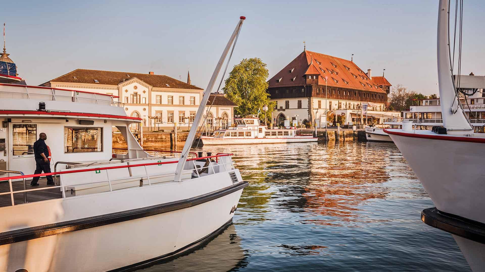 De gezellige haven van Konstanz aan de Bodensee.