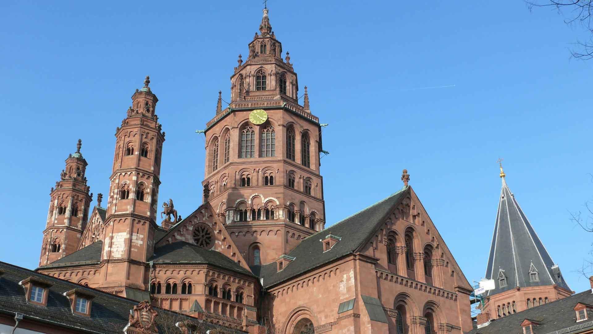 De indrukwekkende dom van Mainz.
