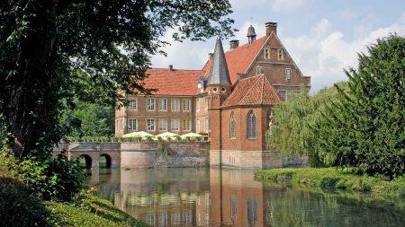 Wasserburg Hülshoff in het Münsterland.