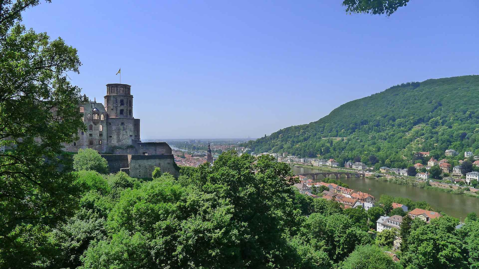 De Neckar bij Heidelberg.
