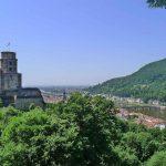 Uitzicht over Heidelberg vanaf de burchtruine: een hoogtepunt op de fietscruise op Neckar