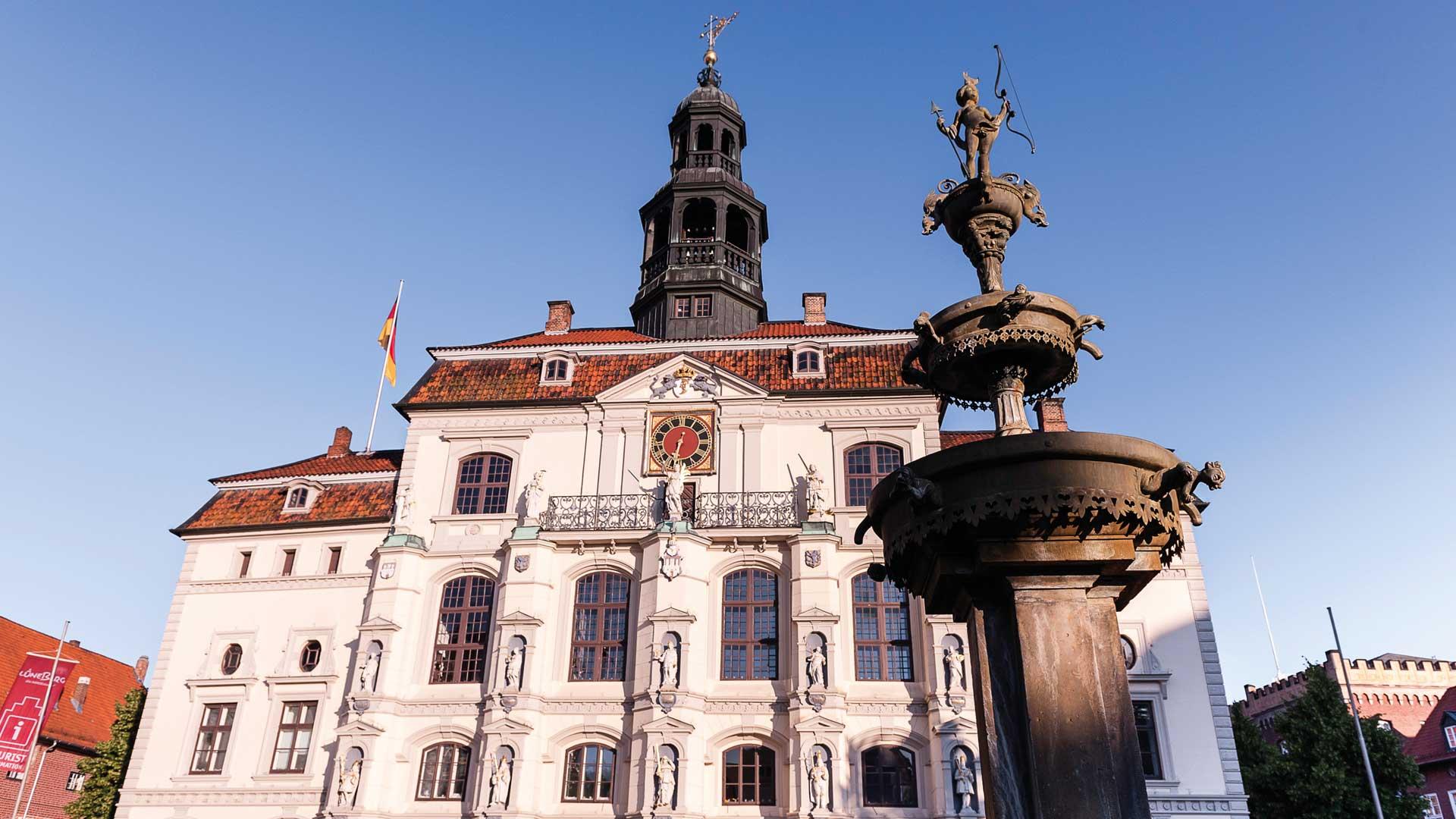 Het stadhuis van de zoutstad Lüneburg.