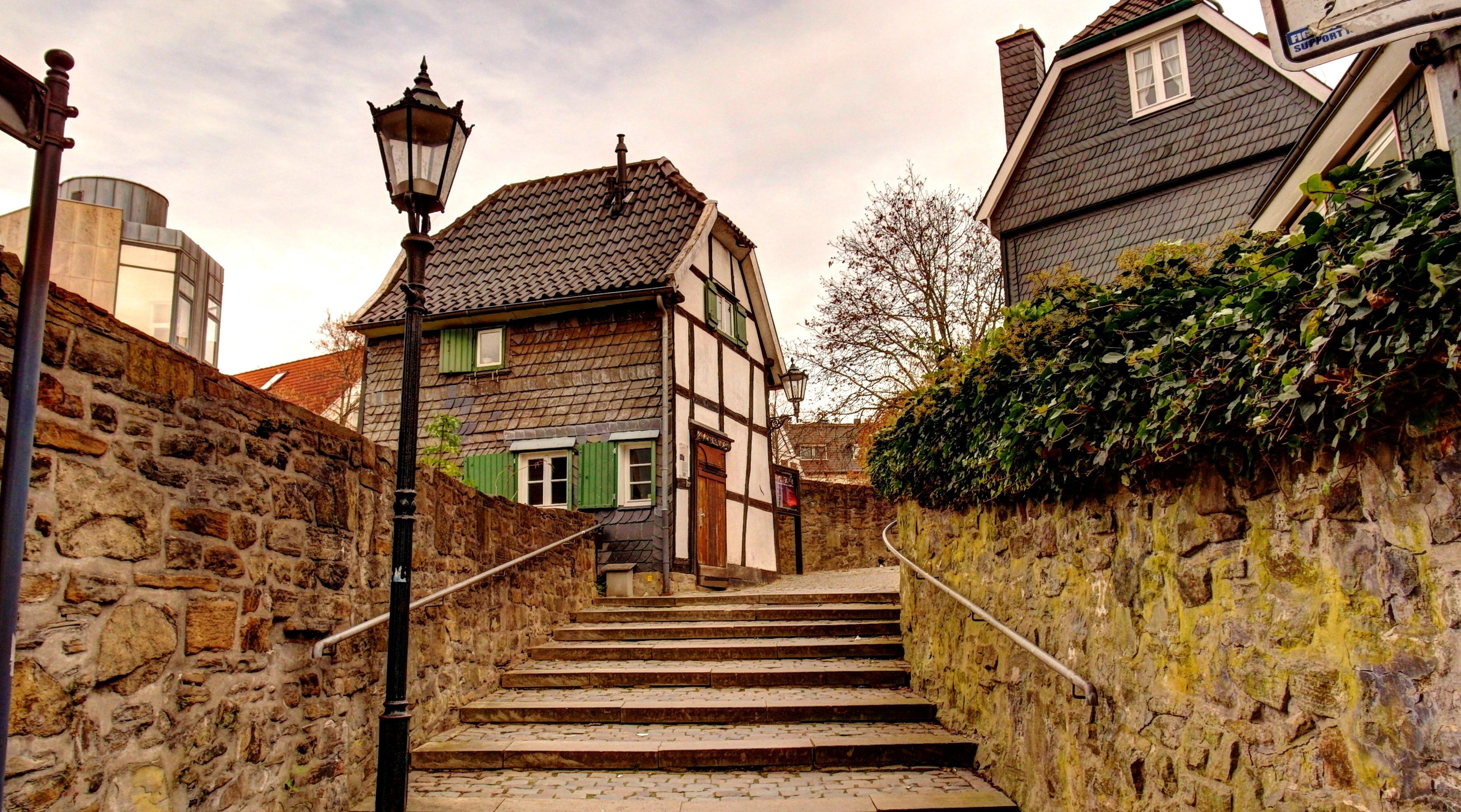 Een pittoresk hoekje in Hattingen.