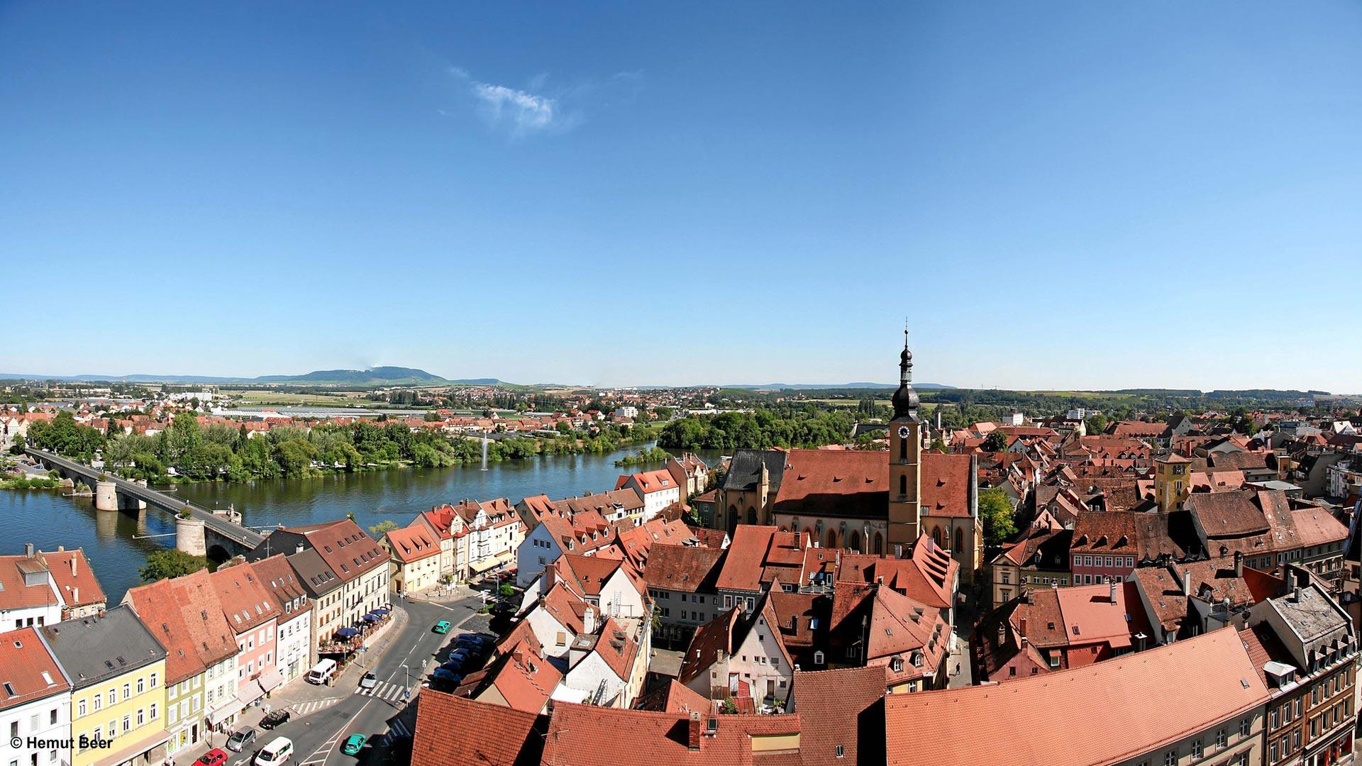 Uitzicht over Kitzingen aan de Main. © Helmut Beer - SE-Tours