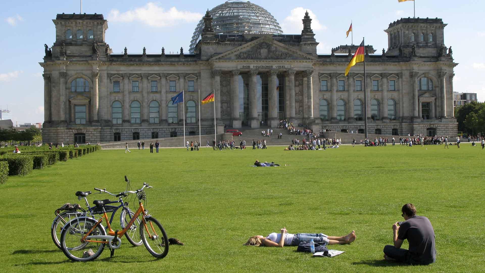 De Reichsdag - het Duitse parlement - kun je ook bezichtigen.