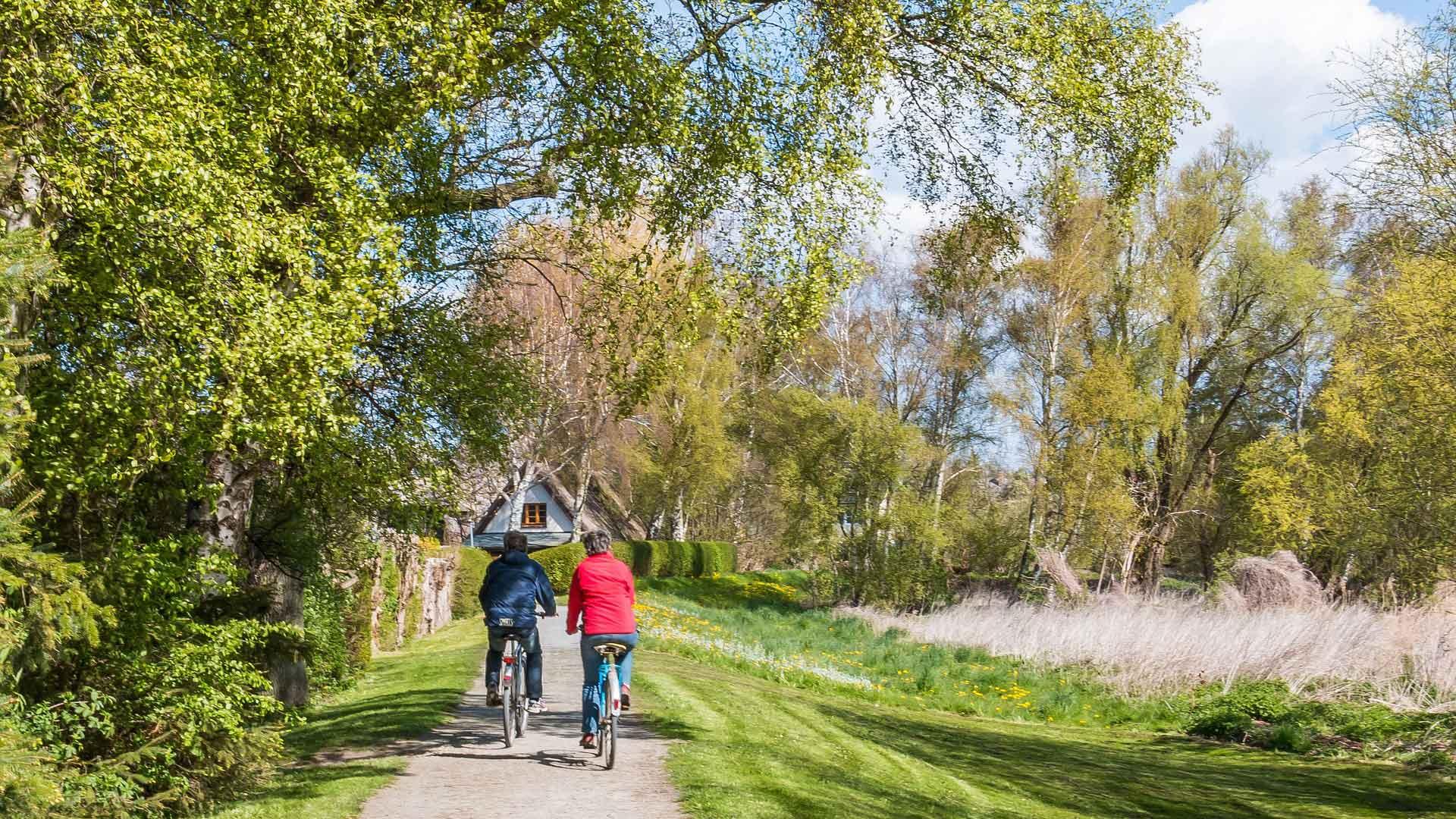 Ook het binnenland langs de Oostzeekust is mooi om te fietsen.