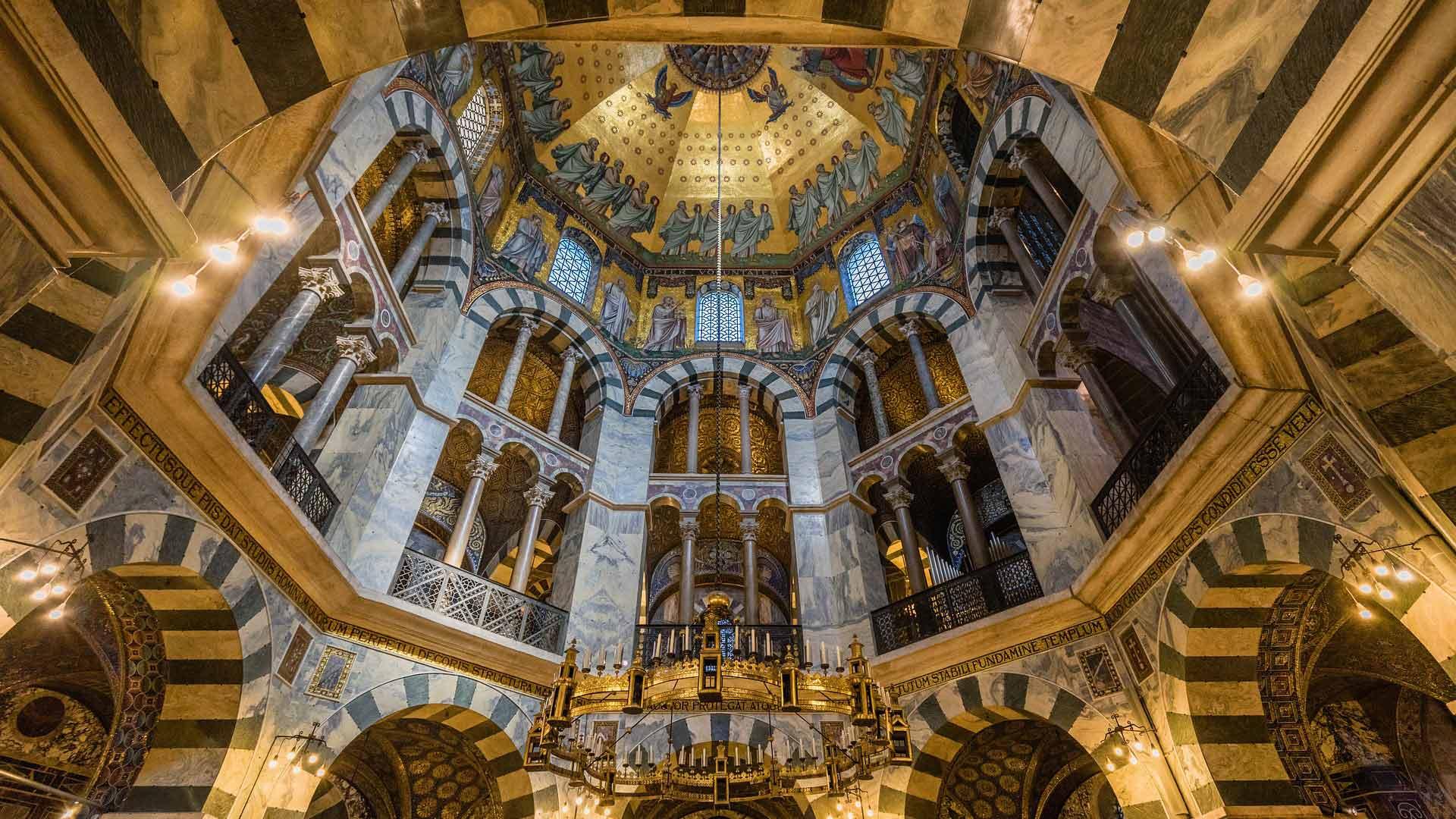 De prachtige Dom van Aken