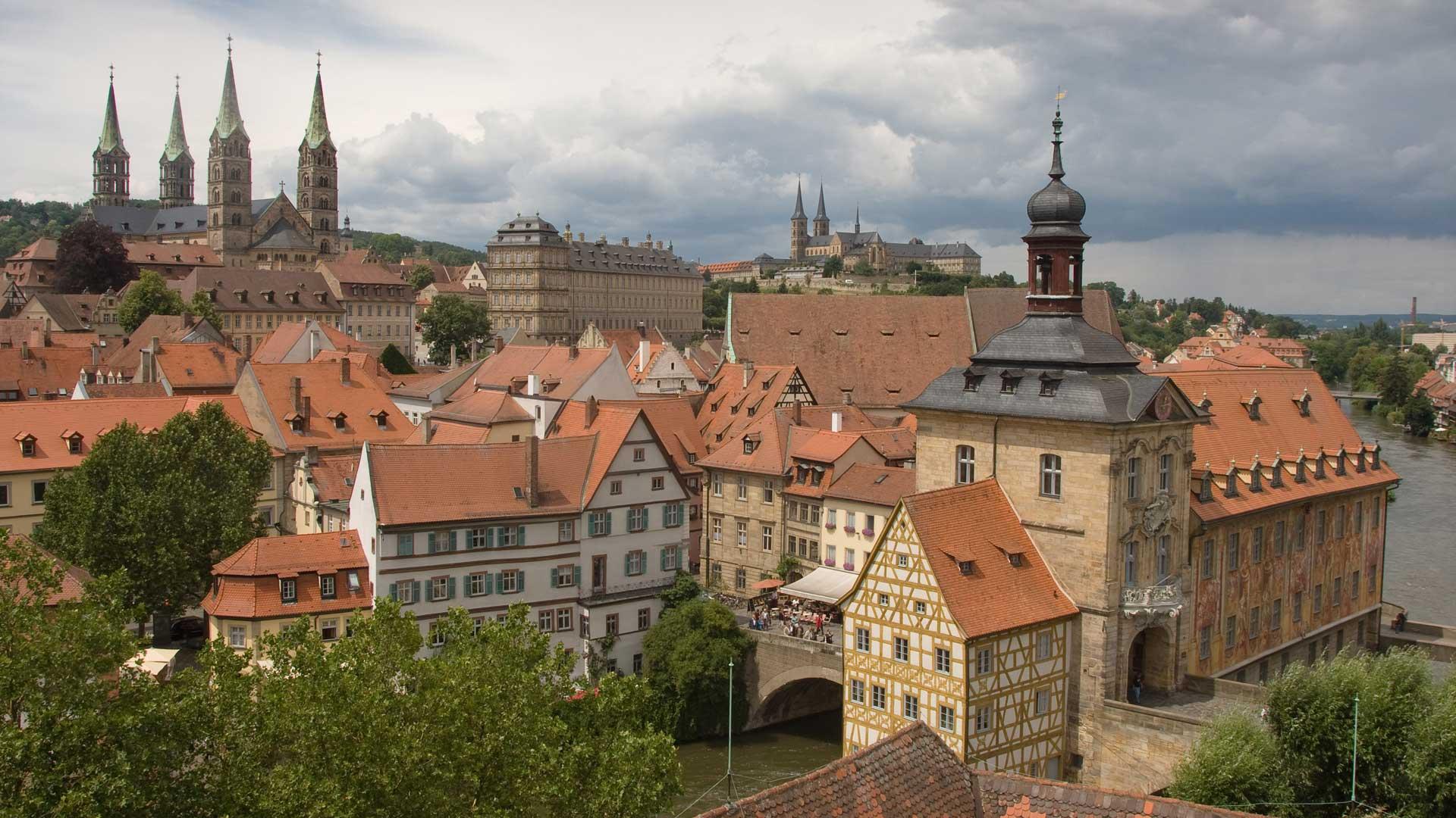 Uitzicht over Bamberg.