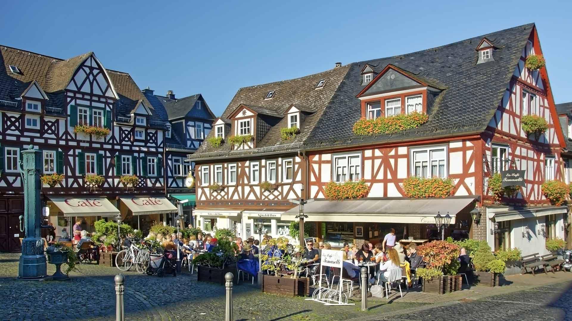 De picturesque binnenstad van Braunfells