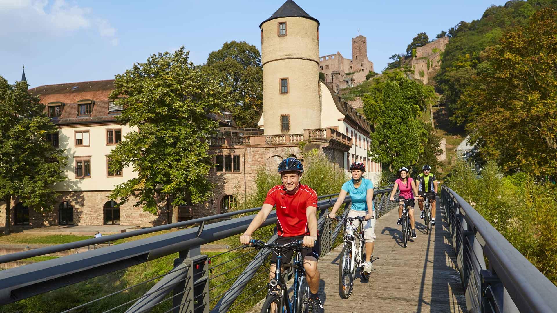 De burcht in Wertheim: een van de hoogtepunten tijdens een fietsvakantie in het Liebliches Taubertal. © Liebliches Taubertal - Peter Frischmuth.