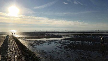 In Cuxhaven kun je gaan wadlopen.