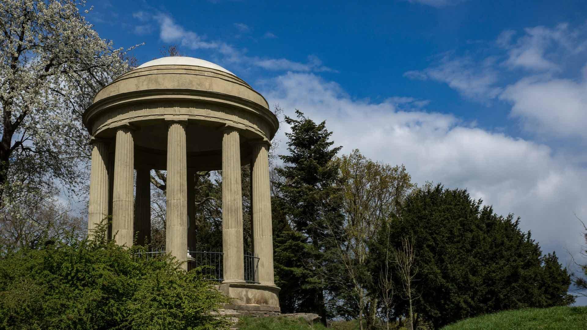 Een tempeltje in het Wörlitzer Park bij Dessau.