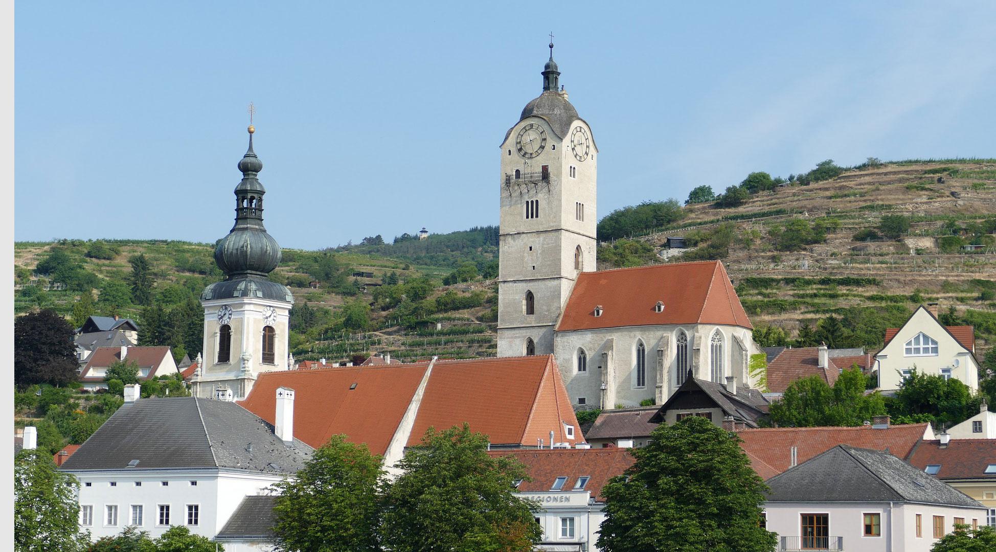 De Pfarrkirche en Frauenkirche in Krems