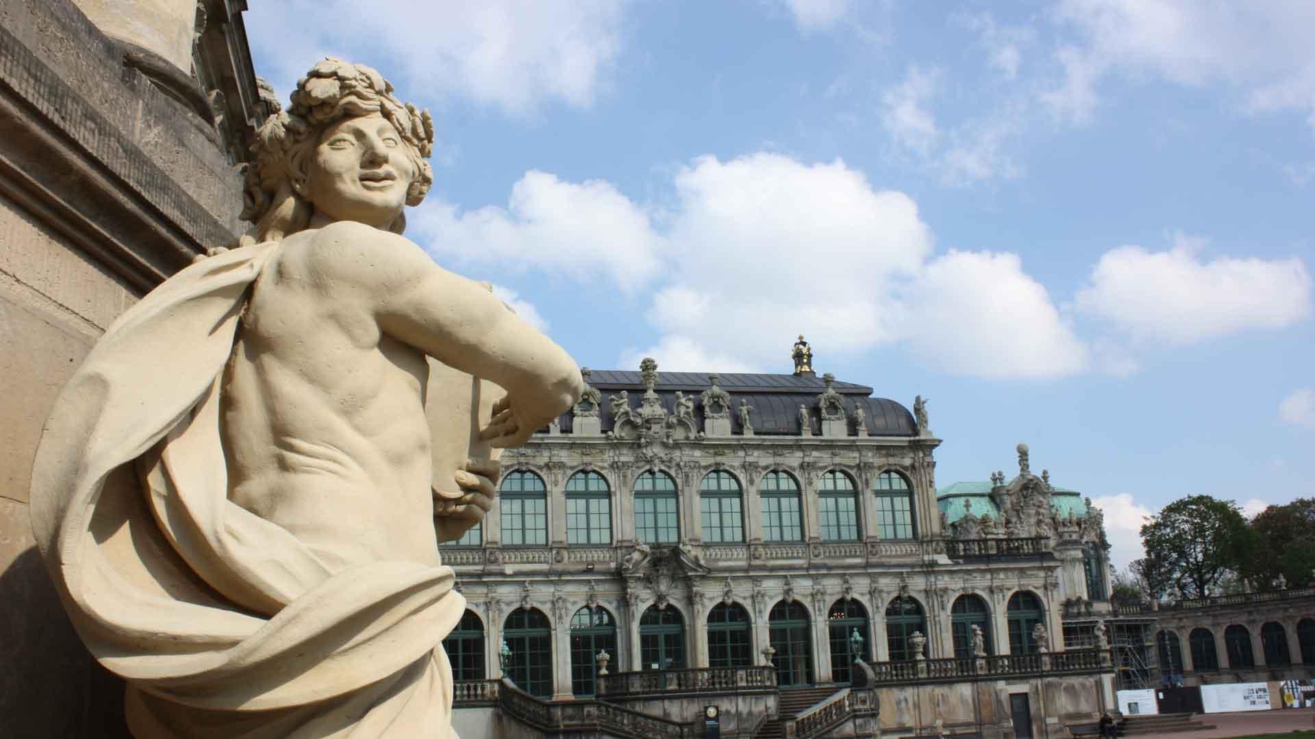 Een van de hoogtepunten in Dresden is de Zwinger.