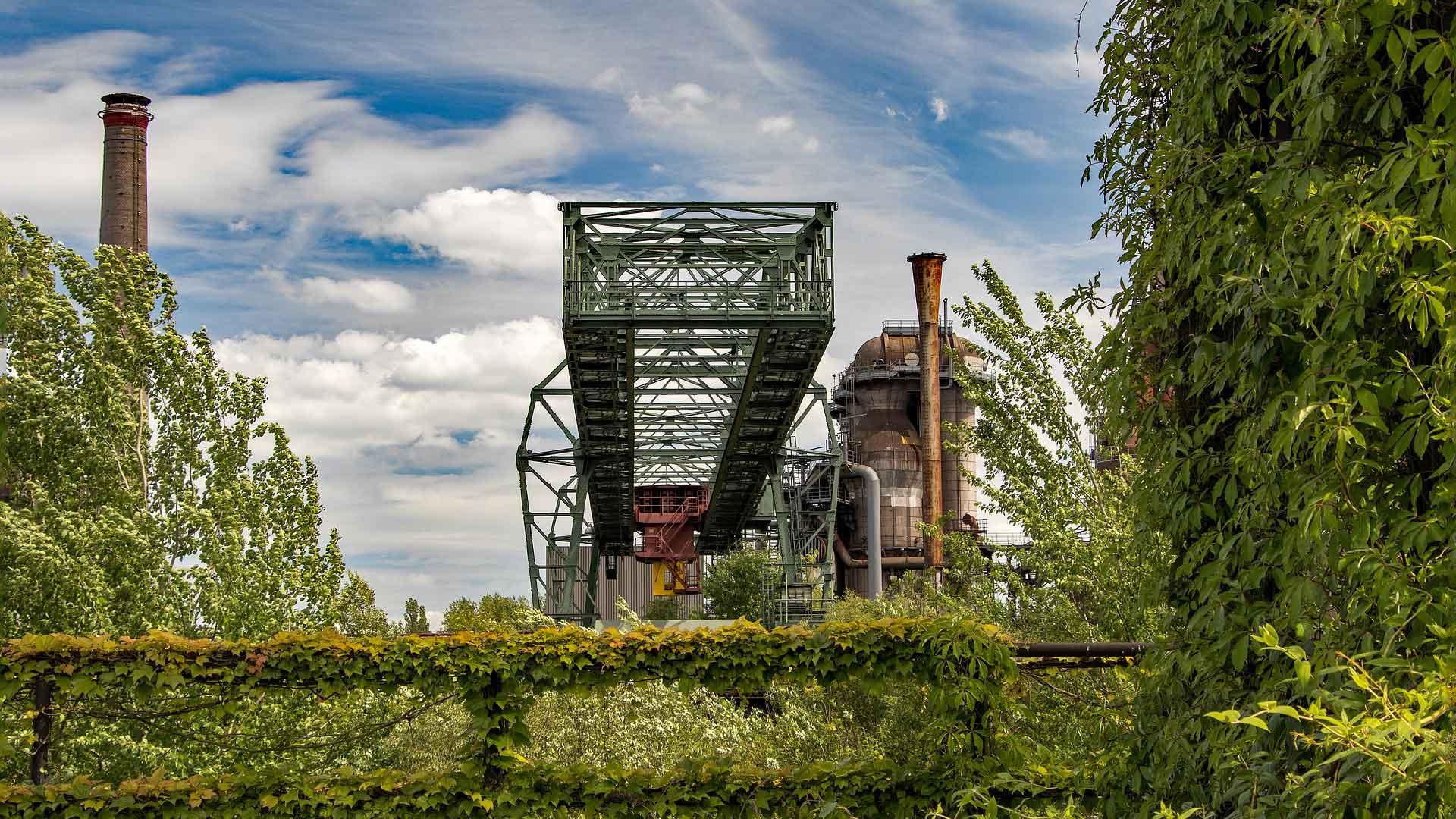 Industrieel erfgoed kan erg fotogeniek zijn zoals hier in Duisburg.