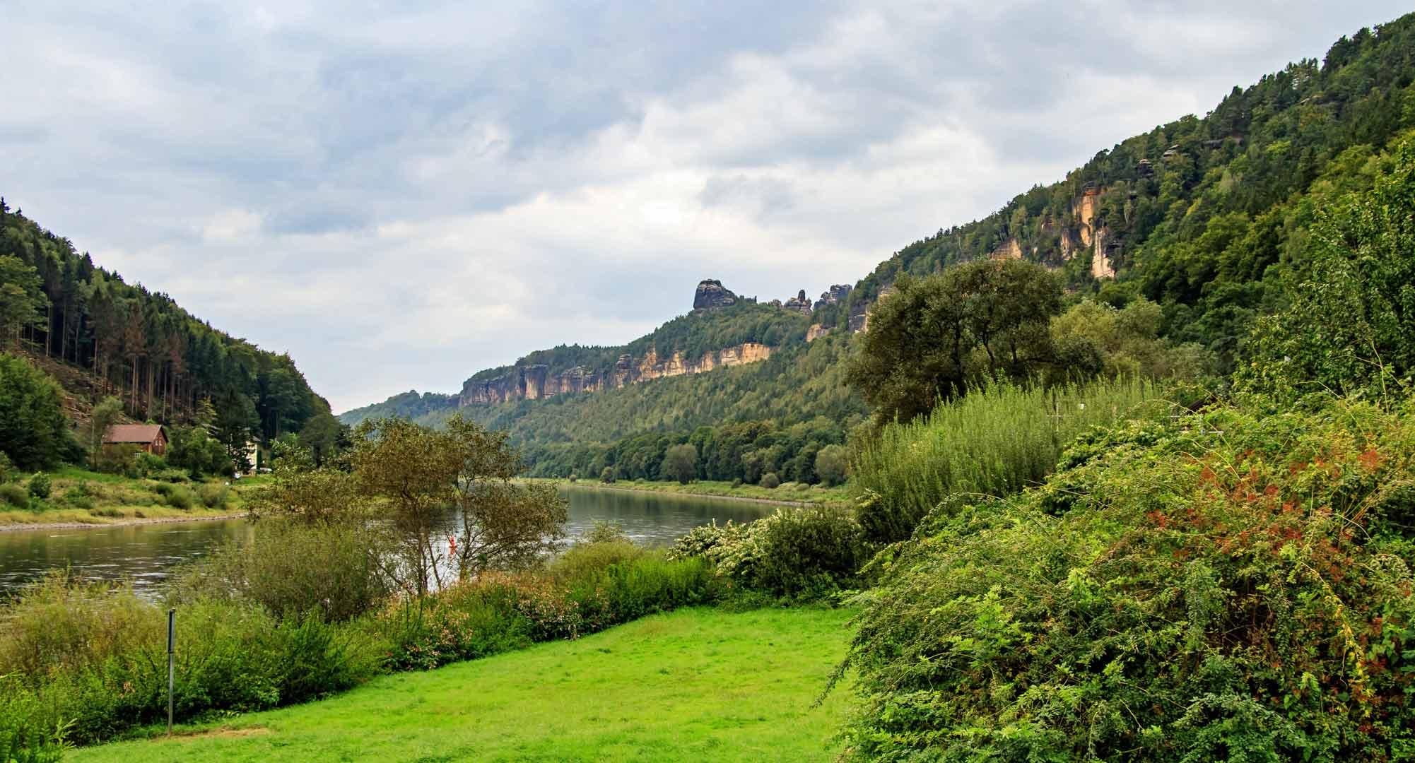 De grillige rotsformaties in de Sächsische Schweiz