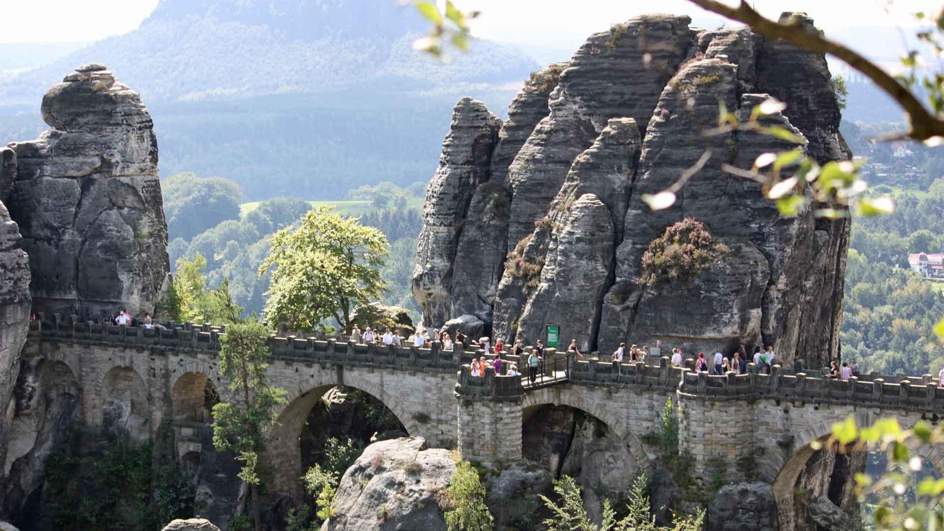 De Bastei in de Sächsische Schweiz