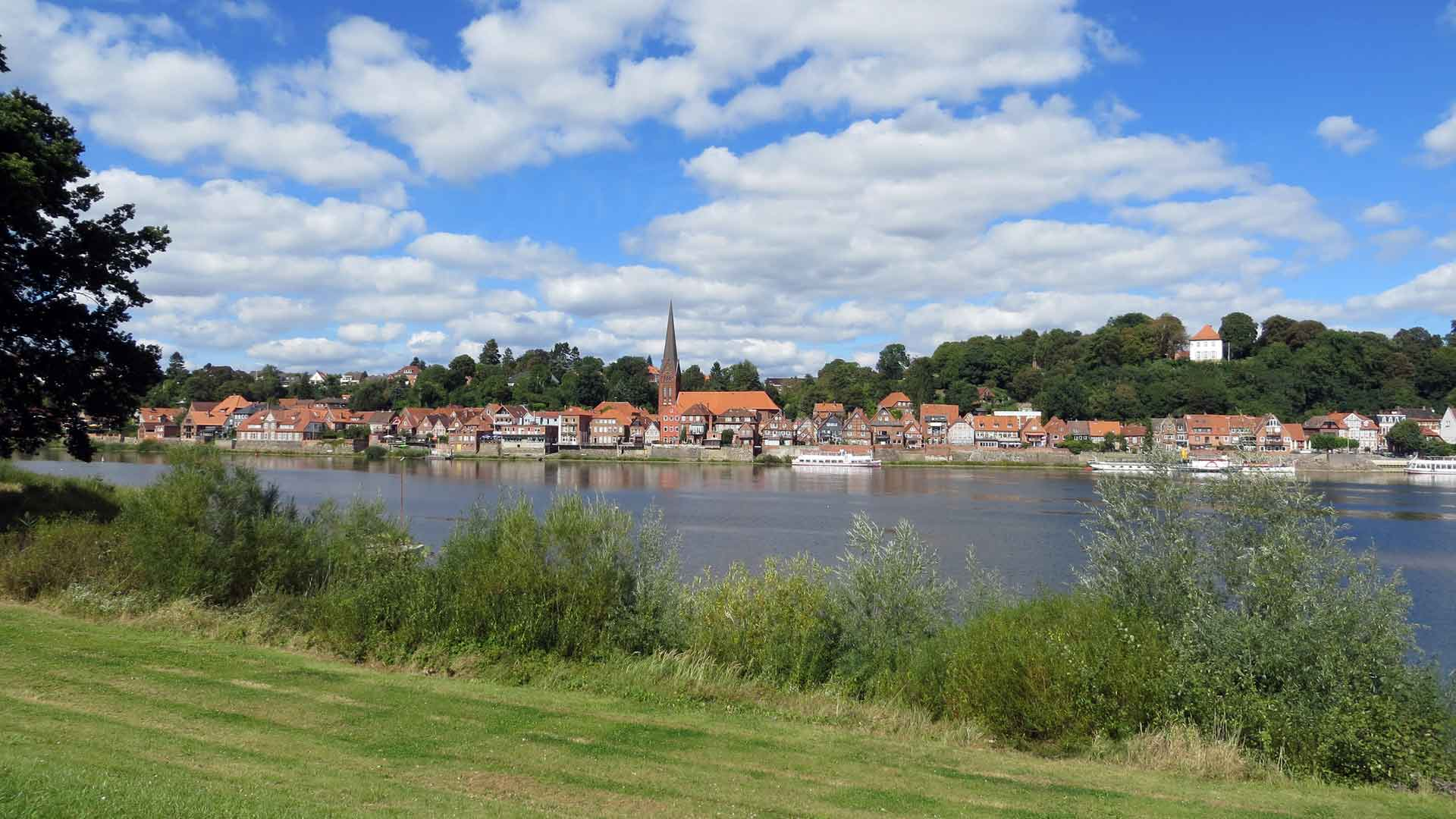 Het plaatsje Lauenburg aan de Elbe.