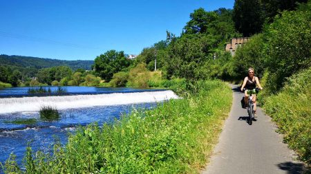 Heerlijk fietsen langs de Lahn in Duitsland.