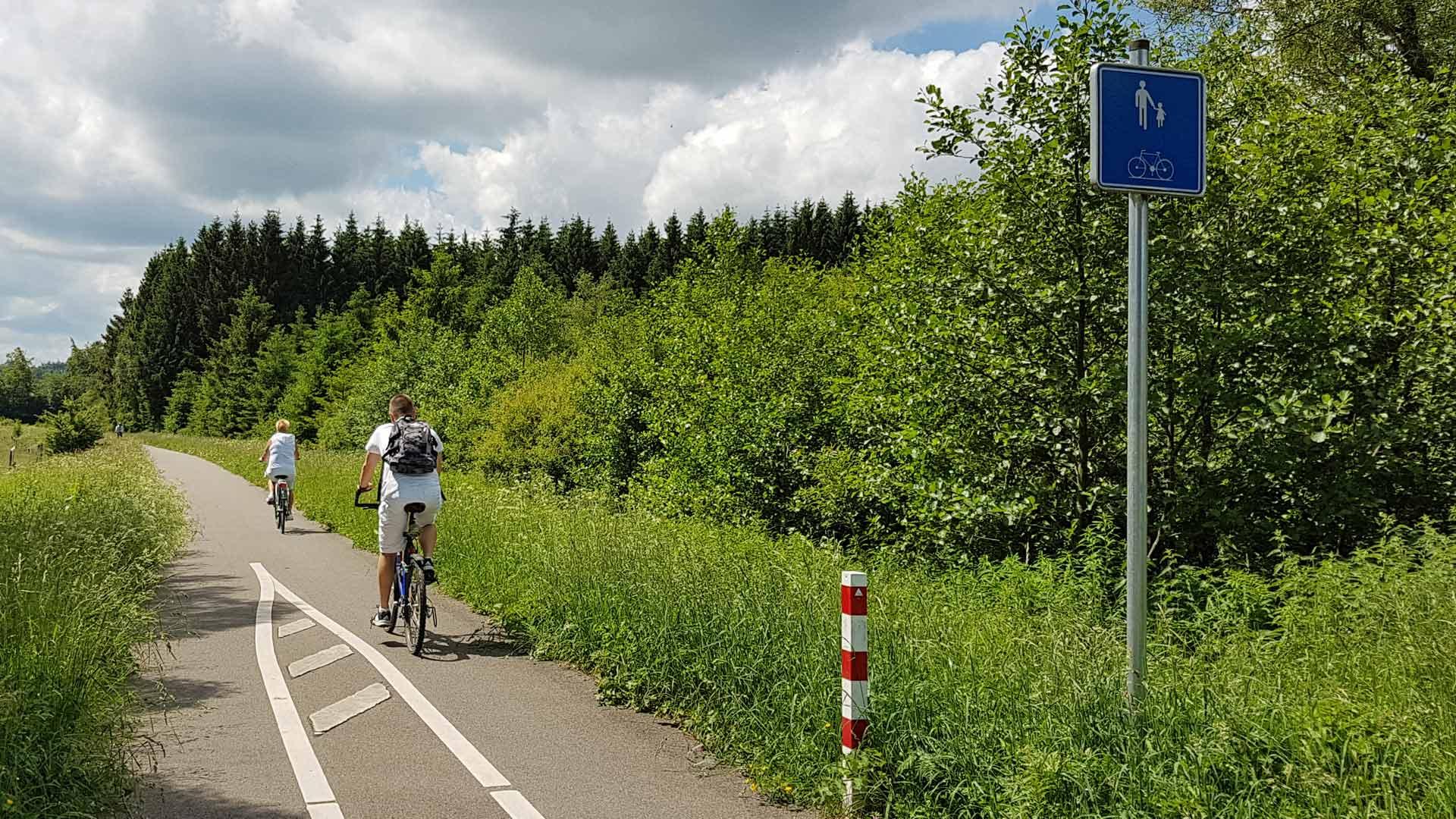 De Vennbahn dankt haar populariteit aan de geringe stijgingspercentages.