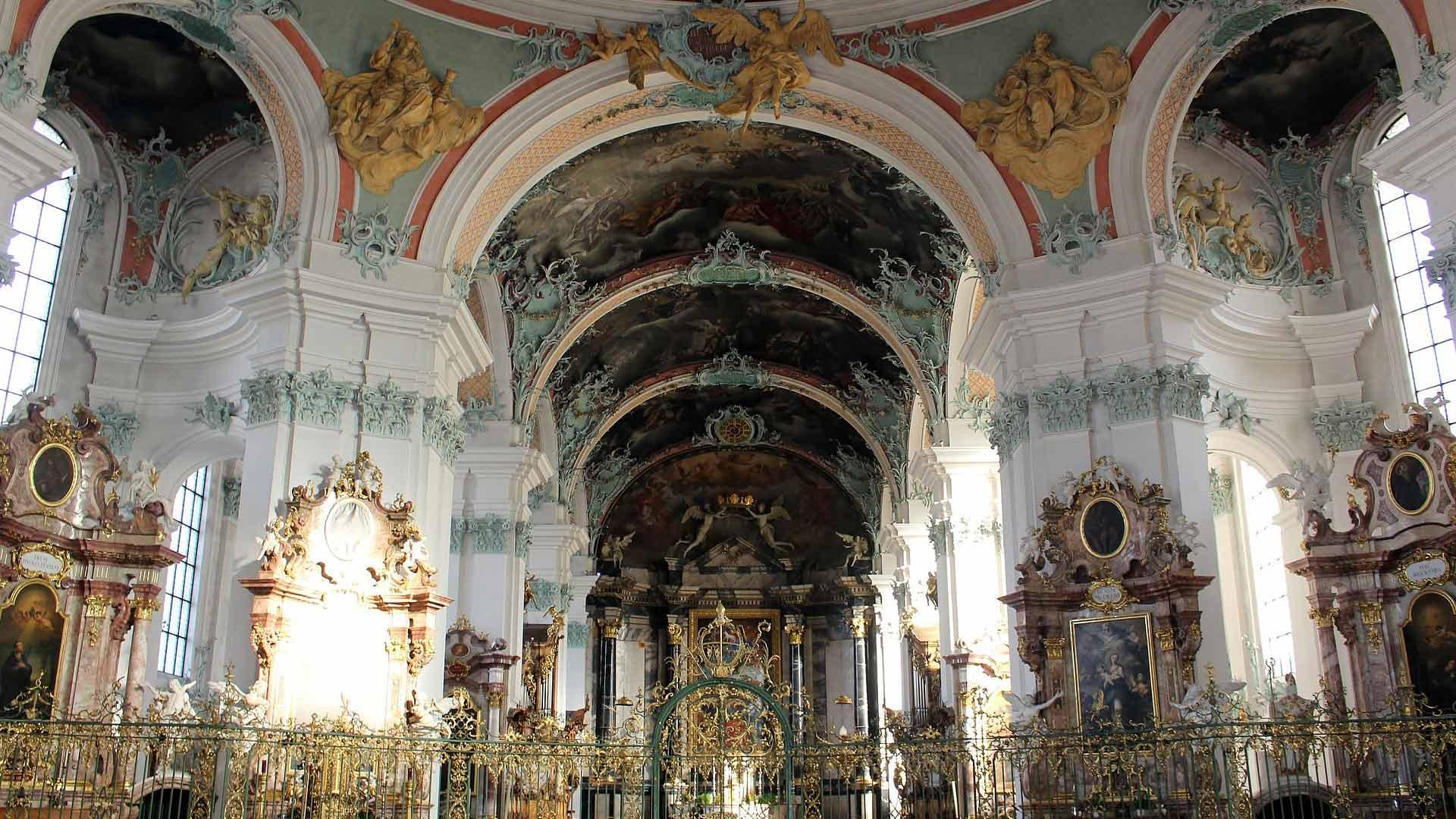 De beroemde barokke Stiftskirche in St. Gallen