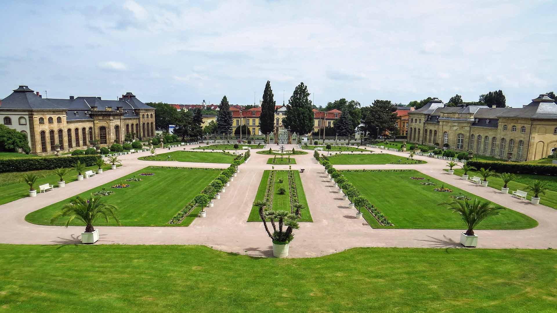 Schloss Friedenstein in Gotha ligt in een prachtig park.