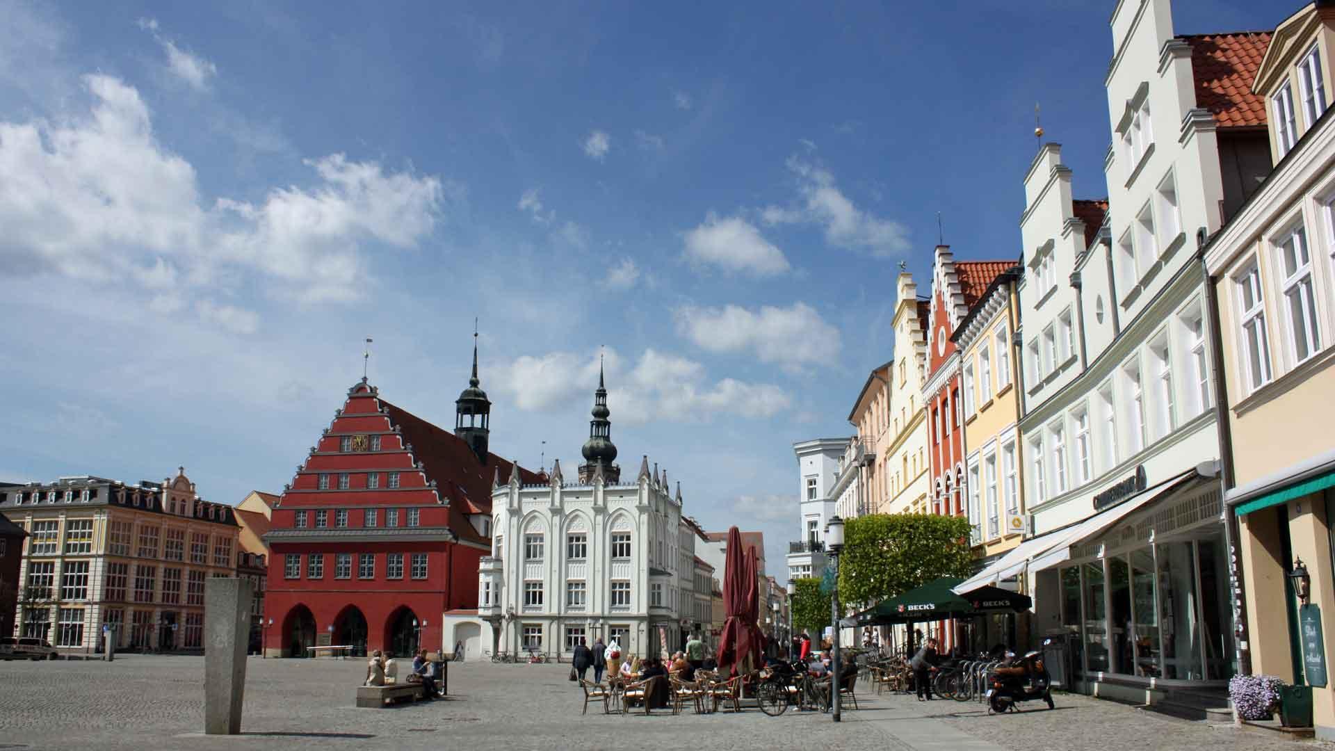 Het pittoreske stadje Greifswald.