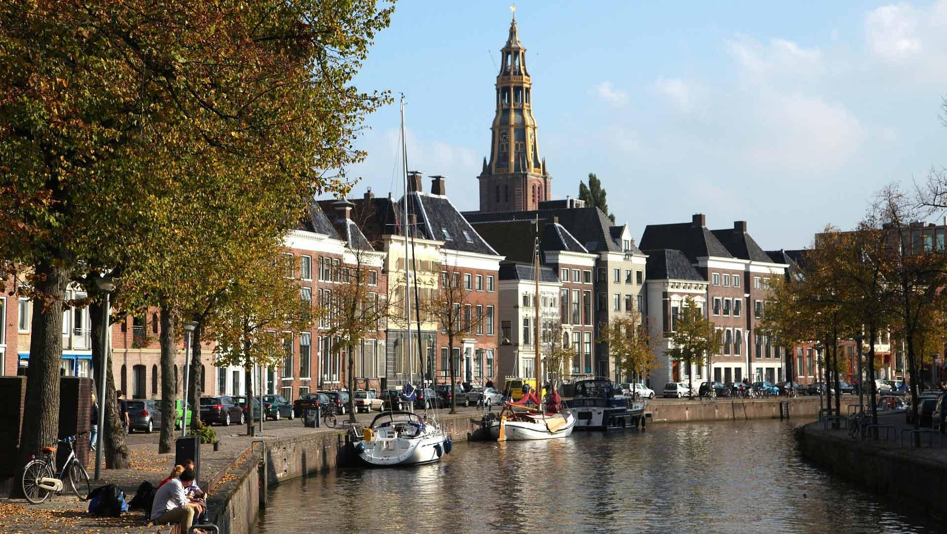 Groningen is een gezellige studentenstad.