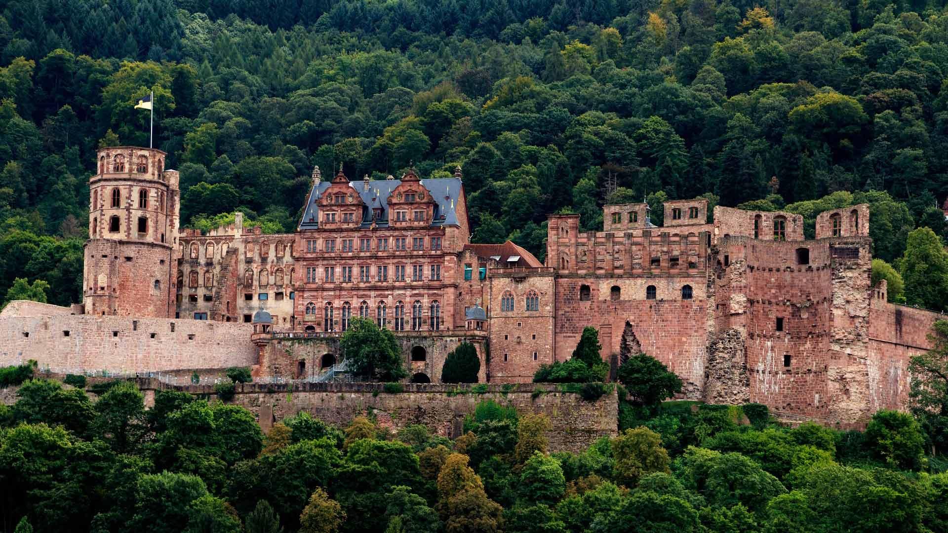 Het machtige slot van Heidelberg.