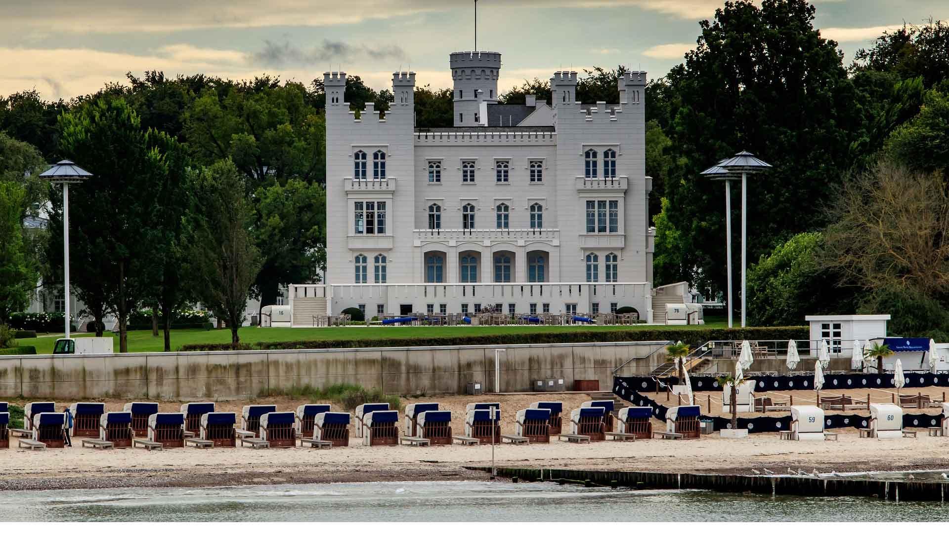 Fraaie badhuisarchitectuur onderweg zoals hier in Heiligendamm aan de Oostzee.