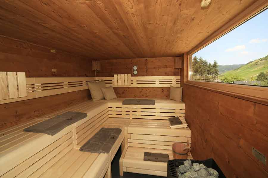 De Finse sauna van Hotel Halfenstube.