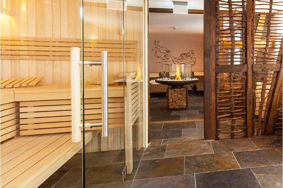 In Hotel Halfenstube kun je je eigen prive sauna huren.