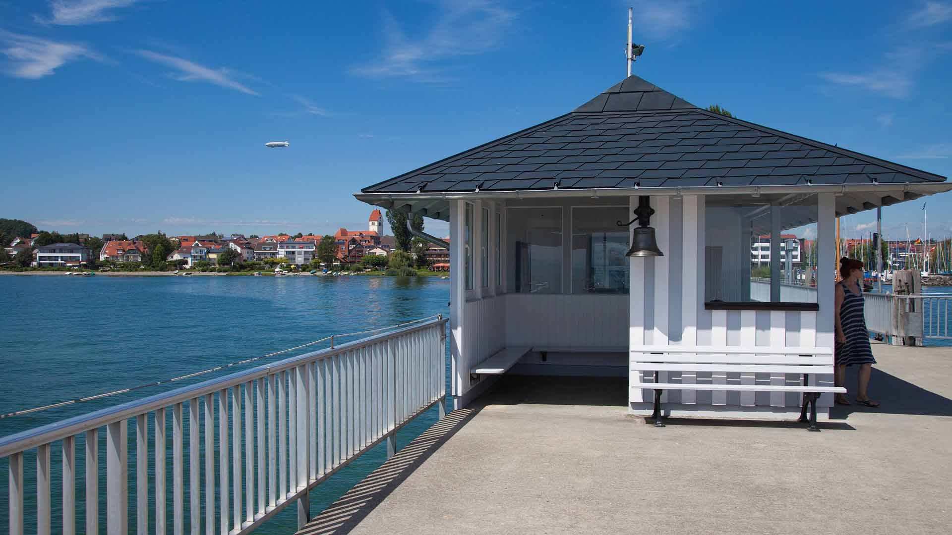 Die Pier in Immenstaad.