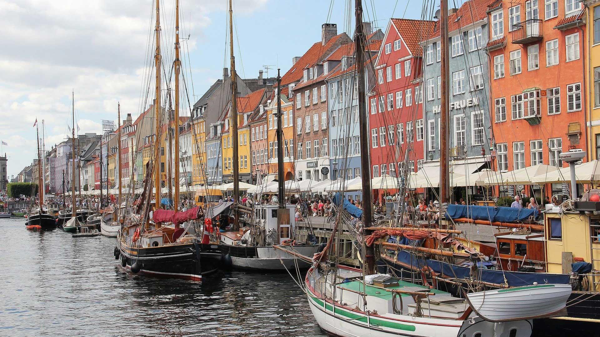 De oude haven van Kopenhagen