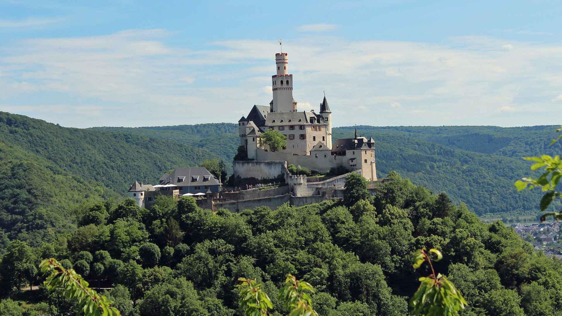 Het impossante kasteel van Braubach.