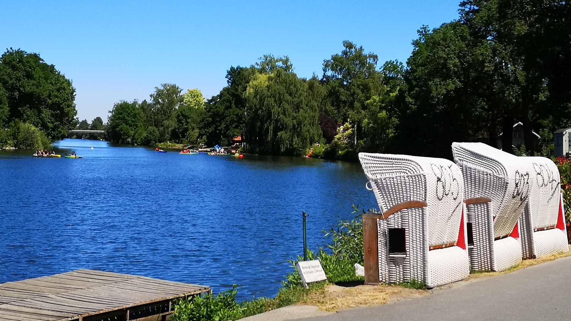 De Lahn is een echte vrije tijds rivier.