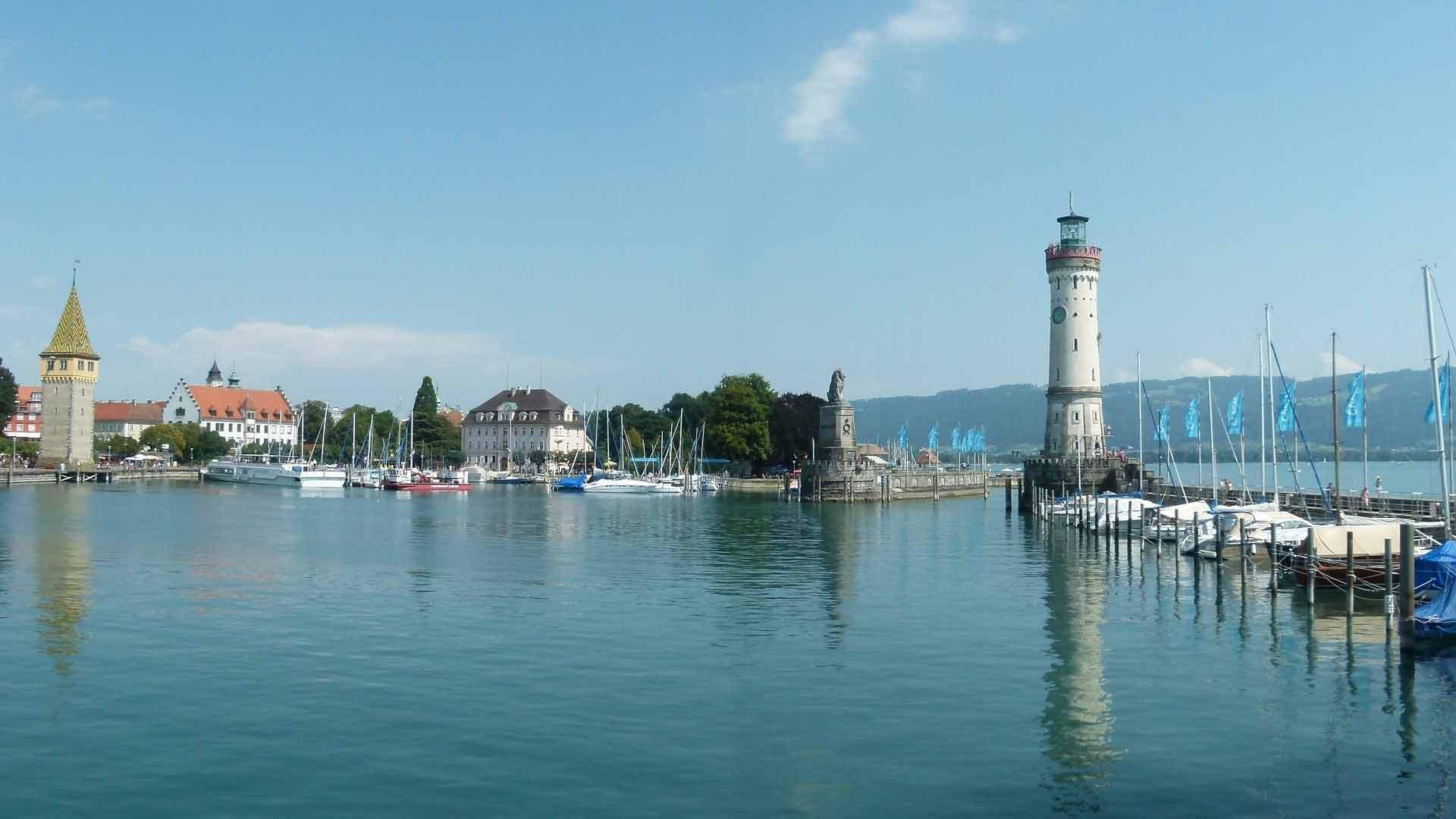 Het mooie plaatsje Lindau aan de Bodensee